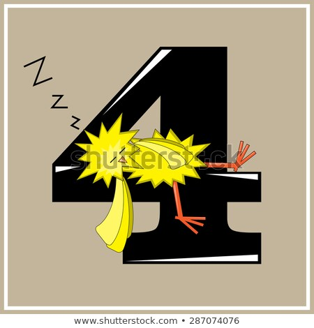 Cartoon Chicken Napping Stock photo © cthoman