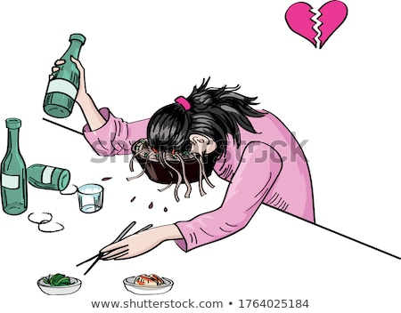 Drunk Cartoon Heart Stock photo © cthoman