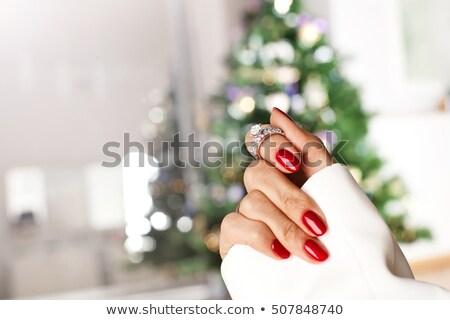 red christmas ring Stock photo © alexaldo