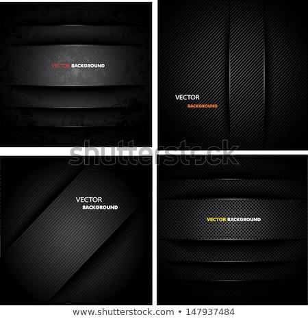 Vector abstract zwarte ingesteld ontwerp textuur Stockfoto © blaskorizov