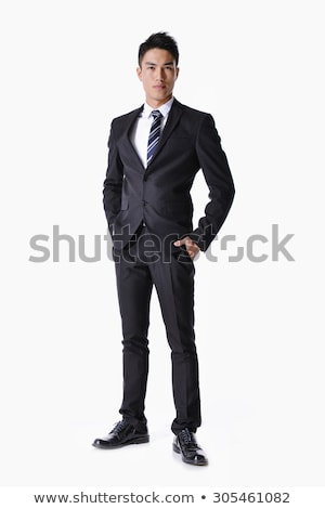 Full length portrait of a delighted young businessman Stock photo © deandrobot