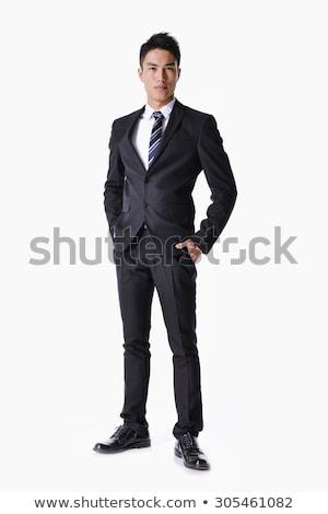 portret · mode · mannelijk · model · grijs · naar - stockfoto © deandrobot