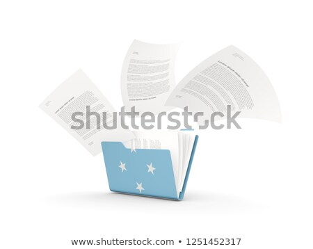 флаг · Микронезия · флагшток · 3d · визуализации · изолированный · белый - Сток-фото © mikhailmishchenko