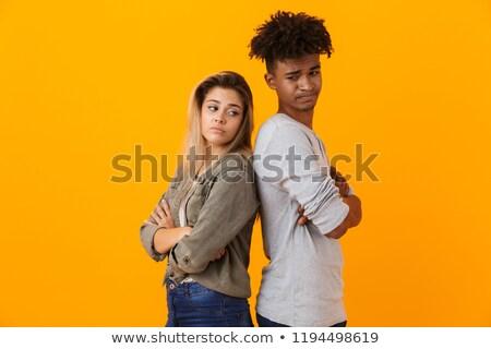 casal · divórcio · crise · infeliz · não · falante - foto stock © deandrobot
