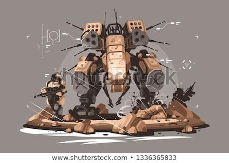 Robot drone mercenary mechanized and automated Stock photo © jossdiim