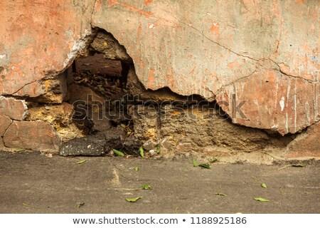 Brisé plâtre wallpaper mur appartement Photo stock © romvo