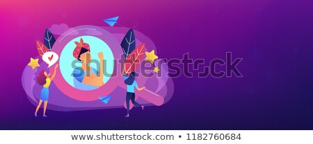Feminisme banner vrouw afbeelding vrouwelijke Stockfoto © RAStudio