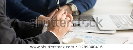 文書 バナー ヘッダ ビジネスチーム ノートパソコン を ストックフォト © RAStudio