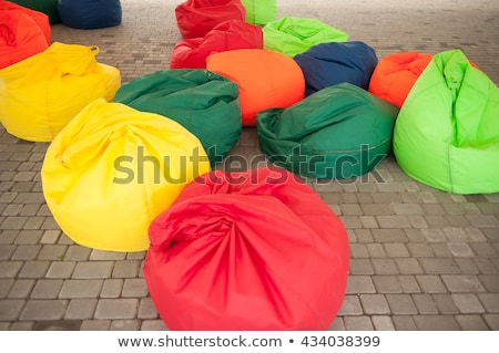 many colorful soft beanbag seats Stock photo © ruslanshramko