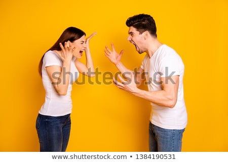 man scolding to his wife stock photo © andreypopov