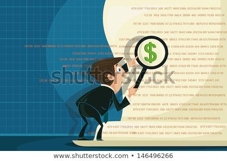 глядя · документа · увеличительное · стекло · бизнесмен · белый · деньги - Сток-фото © andreypopov