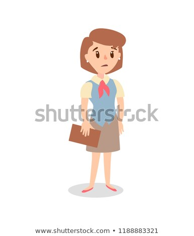 Businesswoman character set. Animate character. Female personage constructor. Vector sad personage. Stock photo © bonnie_cocos