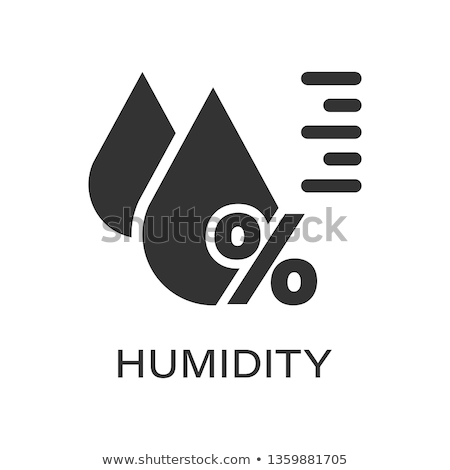 Umidade ícone cor projeto vidro ciência Foto stock © angelp