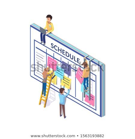 Zamanlamak insanlar planlama zaman büyük tahta Stok fotoğraf © robuart