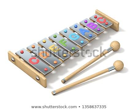 Colorato otto nota uno xilofono 3D Foto d'archivio © djmilic