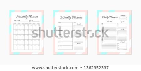 Agenda elenco manoscritto notebook pagina Foto d'archivio © ivelin