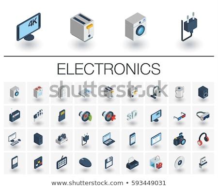 cinema color isometric icons stock photo © netkov1