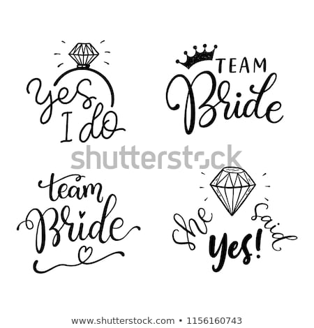 bachelorette party vector text bachelorette invitation wedding woman banner hen girl illustratio stock photo © pikepicture