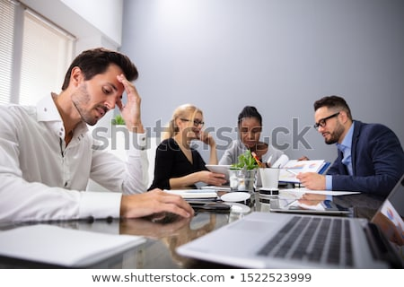 Tense businessman Foto stock © pressmaster