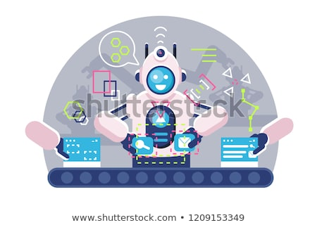 Automatic robot bot arms working on conveyor belt. Stock photo © jossdiim