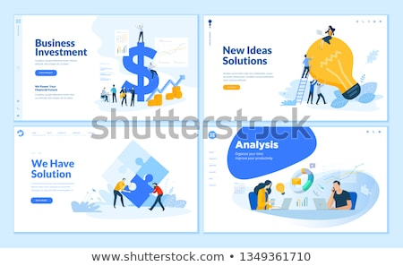 Business oplossing app interface sjabloon groot Stockfoto © RAStudio
