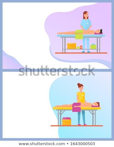 Abdominal atrás masaje servicio línea para Foto stock © robuart