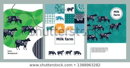 Cattle and landscape illustration Stock photo © kariiika