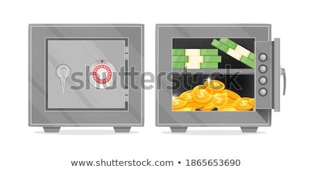 Dorado cerrado candado icono confidencial vector Foto stock © robuart