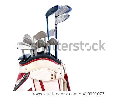 Chroom golf club wig ijzer witte Stockfoto © feverpitch