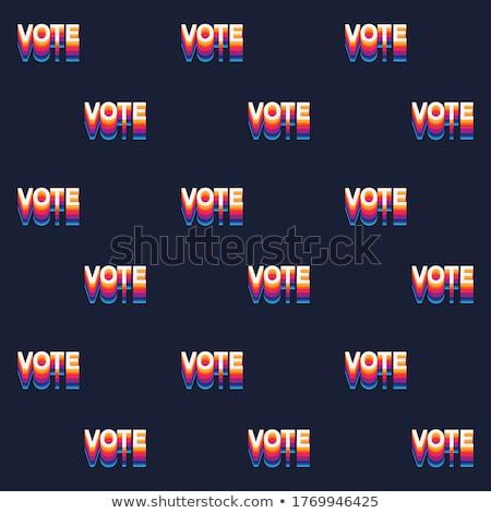 Colorato votazione pattern può usato sfondi Foto d'archivio © netkov1