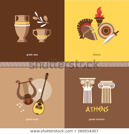 Greece Landmarks and cultural features pattern . Stock photo © netkov1