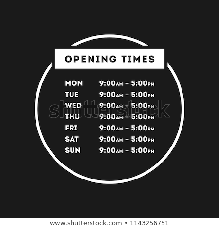 Shop opening time hours vector template Stock photo © orson