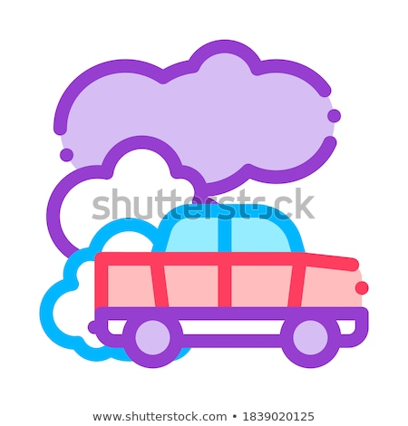 Car Co2 Carbonic Oxide Air Vector Thin Line Icon Stock photo © pikepicture