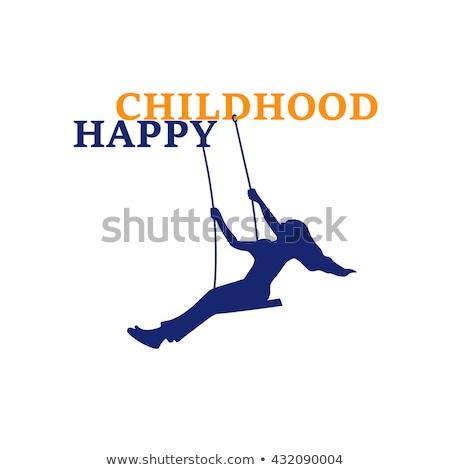 vector · ontspanning · activiteit · kind · speeltuin · zandkasteel - stockfoto © robuart