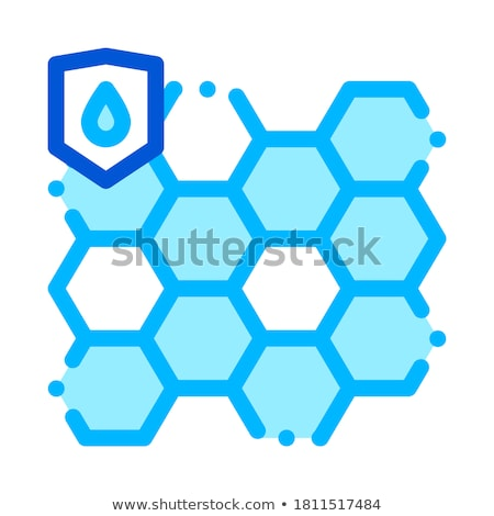 Waterproof Biometrical Material Vector Line Icon Stock photo © pikepicture