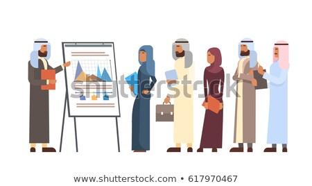 Businesswoman on Presentation, Flip Chart Vector Stock photo © robuart