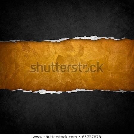 Oro blanco papel rasgado plantilla textura diseno Foto stock © fresh_5265954