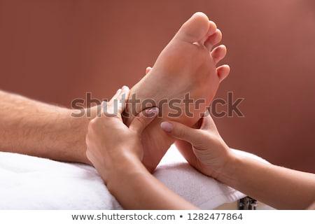 been · massage · patiënt · medische · kantoor · man - stockfoto © andreypopov