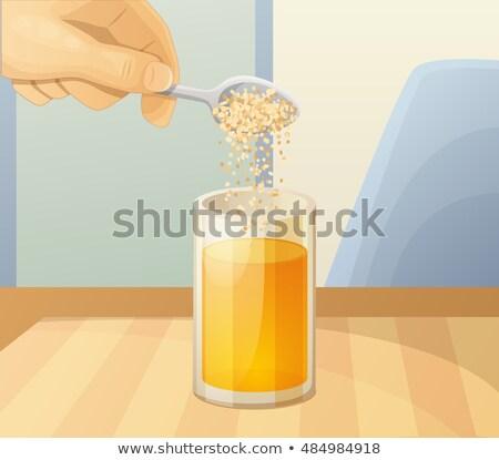 sinaasappelsap · glas · geïsoleerd · witte · zomer · vloeibare - stockfoto © imaagio