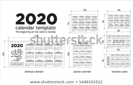 Business card size 2020 calendar template Stock photo © orson