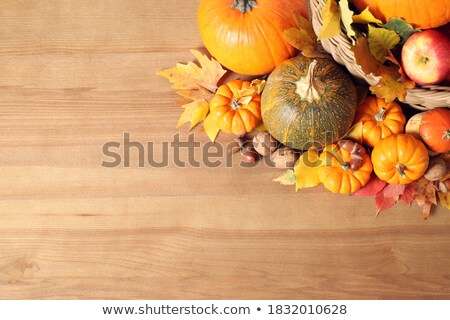 cadılar · bayramı · kabak · sepet · elma · çim · ağaçlar · yüz - stok fotoğraf © pressmaster