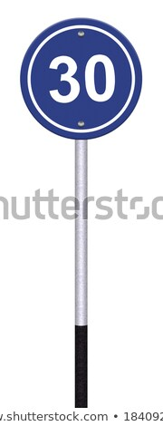 Variants a Minimum speed limit - road sign Stock photo © boroda