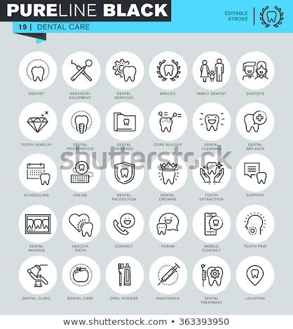 бизнеса · Инфографика · зубов · икона · оригами · стиль - Сток-фото © rwgusev