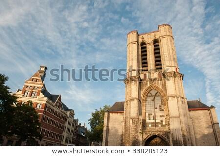 Kerk België Romeinse katholiek laat Stockfoto © borisb17