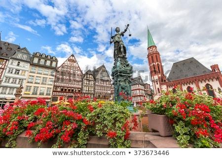 romerberg square frankfurt germany stock photo © borisb17