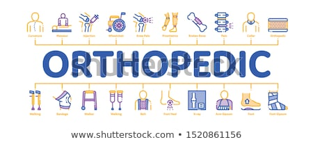 orthopedic minimal infographic banner vector stock photo © pikepicture