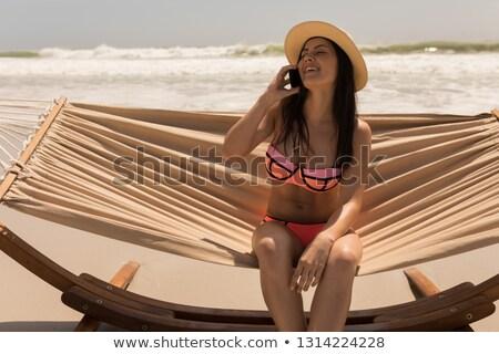 мнение красивой счастливым Hat Сток-фото © wavebreak_media