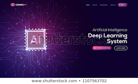 Artificial Intelligence AI Landing Page Stock photo © Anna_leni