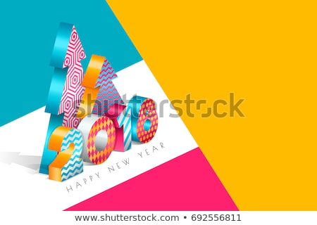 new year from block. Isolated 3D illustration Stock photo © ISerg