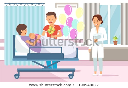 Maternity hospital flat vector illustrations set Stock photo © RAStudio